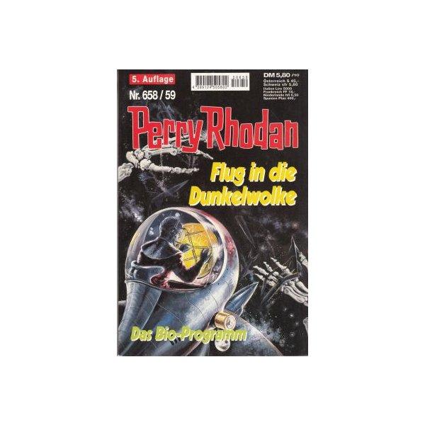 Moewig Perry Rhodan 5. Auflage Nr.: 658/59 - Mahr / Francis: Flug in die Dunkelwolke  / Das Bio-Programm Z(1-2)