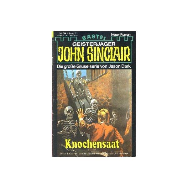 Bastei John Sinclair Nr.: 71 - Dark, Jason: Knochensaat Z(1-2)