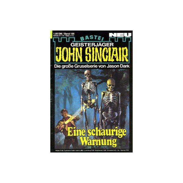 Bastei John Sinclair Nr.: 195 - Dark, Jason: Eine schaurige Warnung Z(1-2)