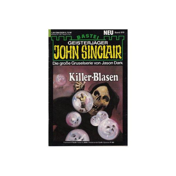 Bastei John Sinclair Nr.: 619 - Dark, Jason: Killer-Blasen (1. Teil) Z(1-2)