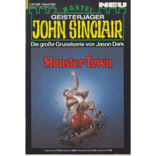 Bastei John Sinclair Nr.: 685 - Dark, Jason: Monster-Town (1. Teil) Z(1-2)