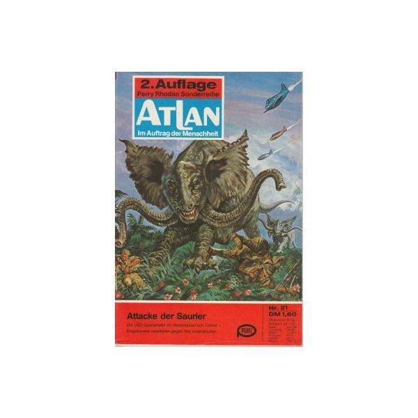 Moewig Atlan 2. Auflage Nr.: 21 - Hess, Dirk: Attacke der Saurier Z(1-2)
