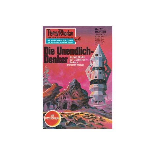 Moewig Perry Rhodan Nr.: 711 - Vlcek, Ernst: Die Unendlich-Denker Z(1-2)