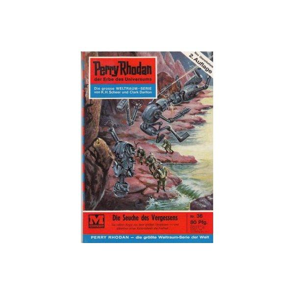 Moewig Perry Rhodan 2. Auflage Nr.: 36 - Darlton, Clark: Die Seuche des Vergessens Z(1-2)