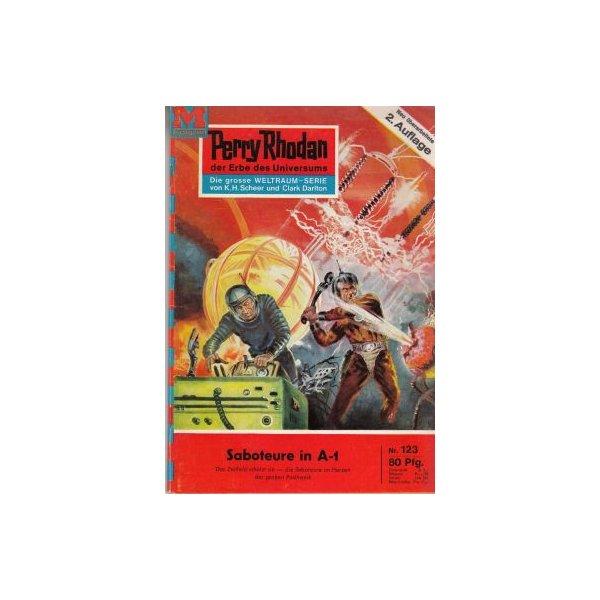 Moewig Perry Rhodan 2. Auflage Nr.: 123 - Brand, Kurt: Saboteure in A-1 Z(1-2)
