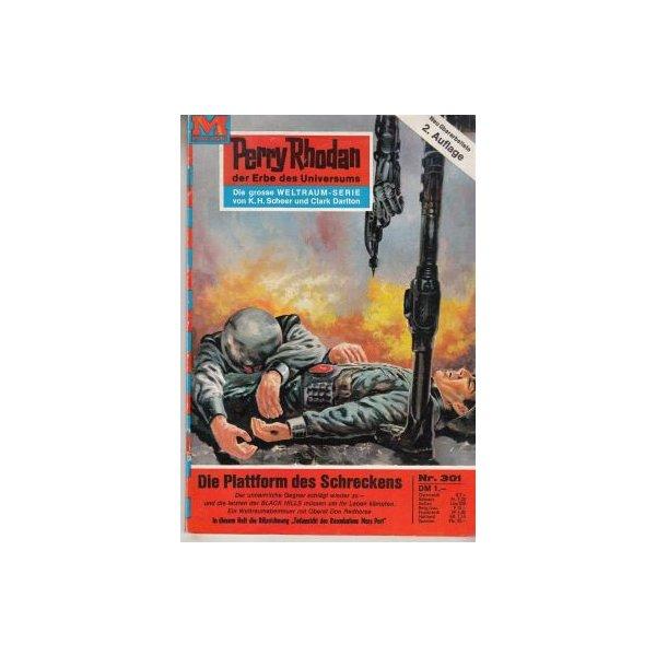 Moewig Perry Rhodan 2. Auflage Nr.: 301 - Voltz, William: Die Plattform des Schreckens Z(1-2)
