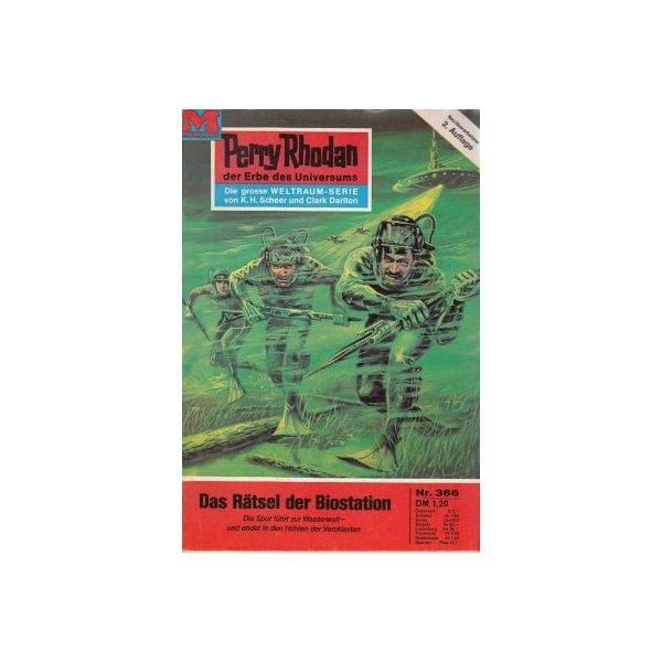 Moewig Perry Rhodan 2. Auflage Nr.: 366 - Darlton, Clark: Das Rätsel der Biostation Z(1-2)