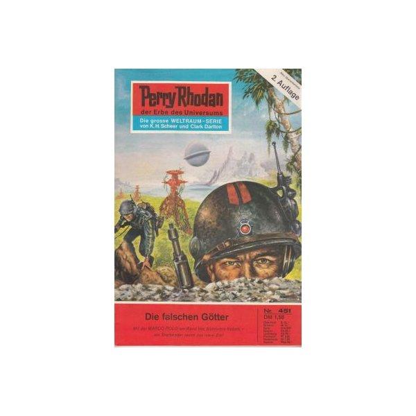 Moewig Perry Rhodan 2. Auflage Nr.: 451 - Ewers, H. G.: Die falschen Götter Z(1-2)