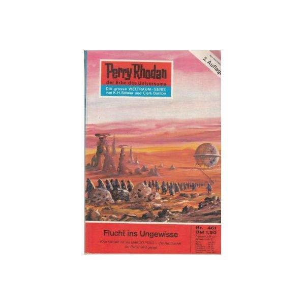 Moewig Perry Rhodan 2. Auflage Nr.: 461 - Darlton, Clark: Flucht ins Ungewisse Z(1-2)