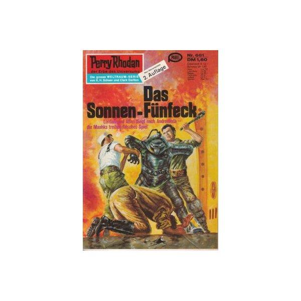 Moewig Perry Rhodan 2. Auflage Nr.: 681 - Mahr, Kurt: Das Sonnen-Fünfeck Z(1-2)
