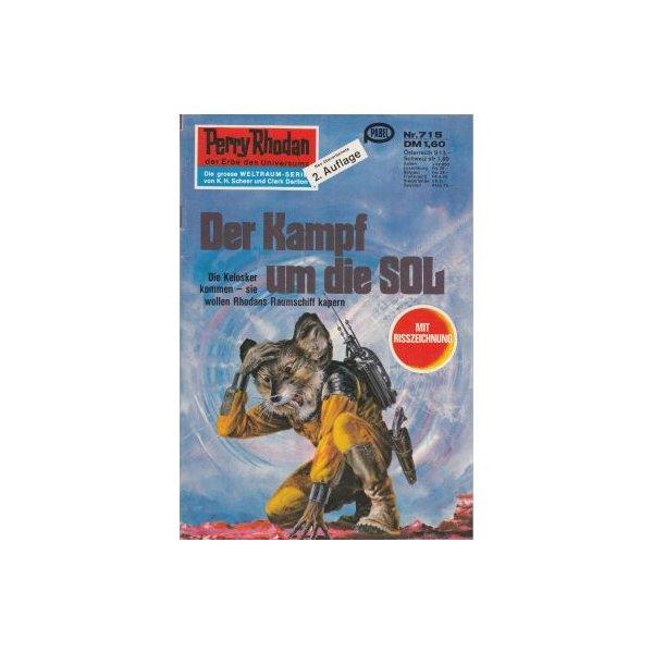 Moewig Perry Rhodan 2. Auflage Nr.: 715 - Ewers, H. G.: Der Kampf um die SOL Z(1-2)