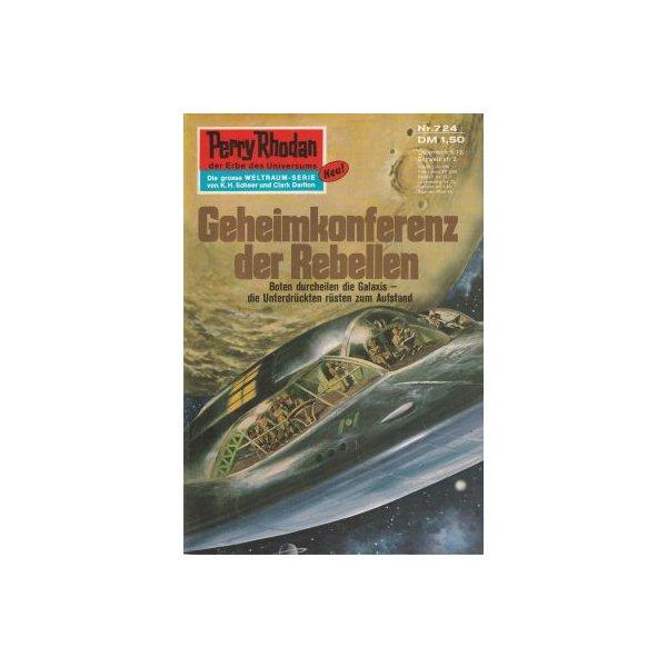 Moewig Perry Rhodan 2. Auflage Nr.: 724 - Mahr, Kurt: Geheimkonferenz der Rebellen Z(1-2)