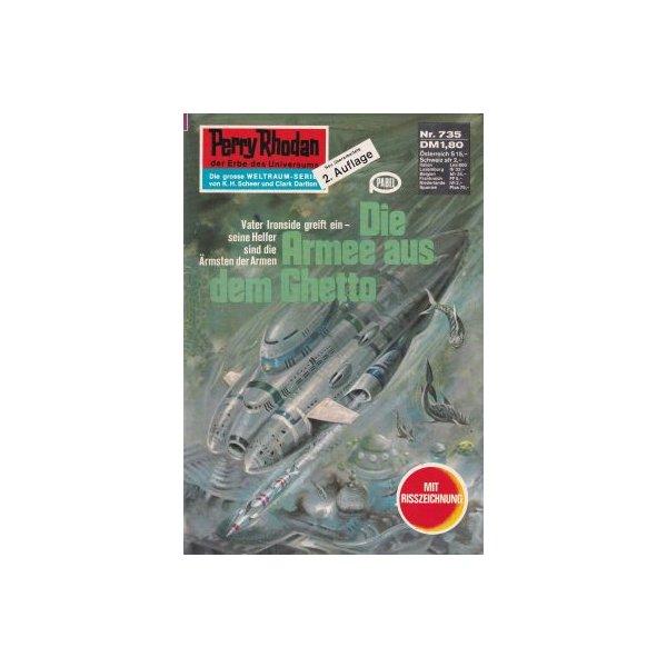 Moewig Perry Rhodan 2. Auflage Nr.: 735 - Mahr, Kurt: Die Armee aus dem Ghetto Z(1-2)