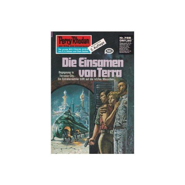 Moewig Perry Rhodan 2. Auflage Nr.: 758 - Voltz, William: Die Einsamen von Terra Z(1-2)
