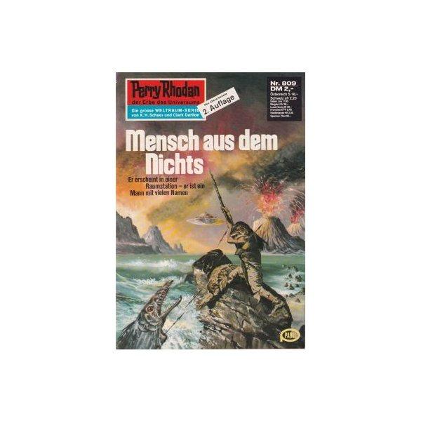 Moewig Perry Rhodan 2. Auflage Nr.: 809 - Kneifel, Hans: Mensch aus dem Nichts Z(1-2)