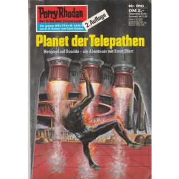 Moewig Perry Rhodan 2. Auflage Nr.: 910 - Darlton, Clark: Planet der Telepaten Z(1-2)