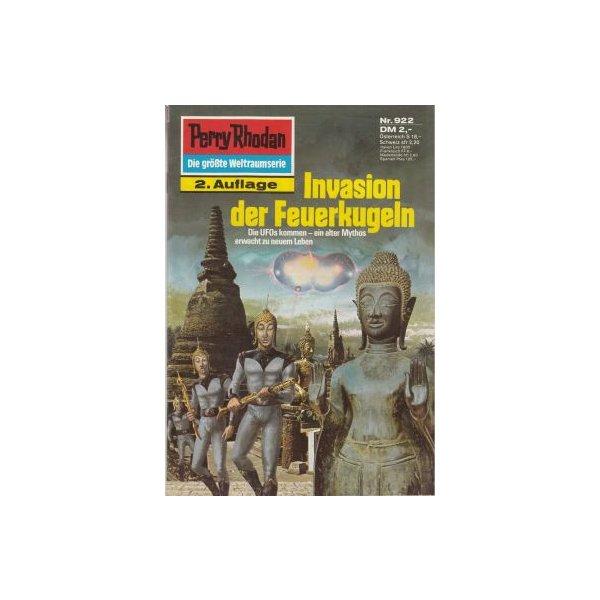 Moewig Perry Rhodan 2. Auflage Nr.: 922 - Sydow, Marianne: Invasion der Feuerkugeln Z(1-2)