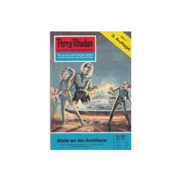 Moewig Perry Rhodan 3. Auflage Nr.: 58 - Darlton, Clark: Attacke aus dem Unsichtbaren Z(1-2)