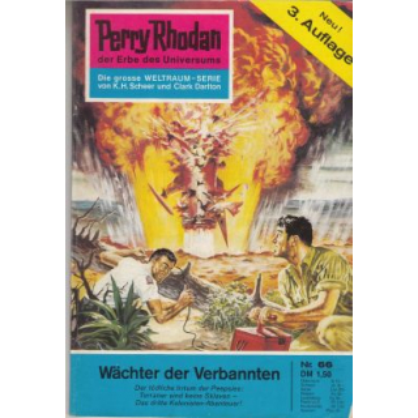 Moewig Perry Rhodan 3. Auflage Nr.: 66 - Mahr, Kurt: Wächter der Verbannten Z(1-2)