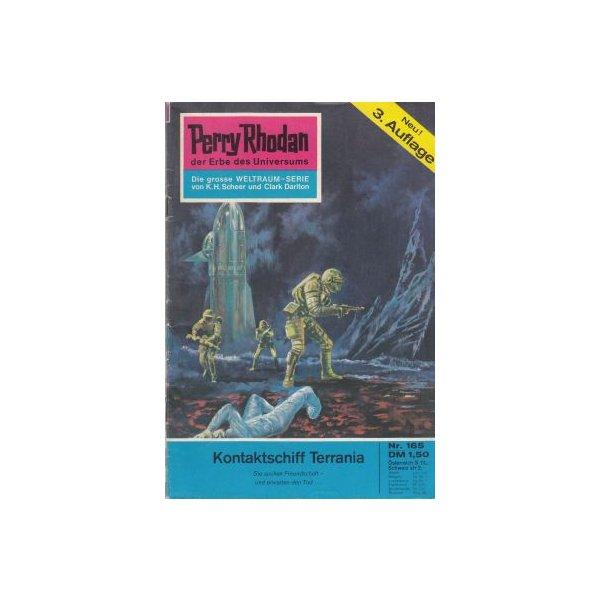 Moewig Perry Rhodan 3. Auflage Nr.: 165 - Brand, Kurt: Kontaktschiff Terrania Z(1-2)