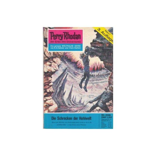 Moewig Perry Rhodan 3. Auflage Nr.: 206 - Mahr, Kurt: Die Schrecken der Hohlwelt Z(1-2)
