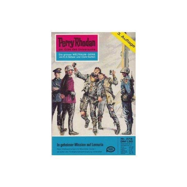 Moewig Perry Rhodan 3. Auflage Nr.: 278 - Voltz, William: In geheimer Mission auf Lemuria Z(1-2)