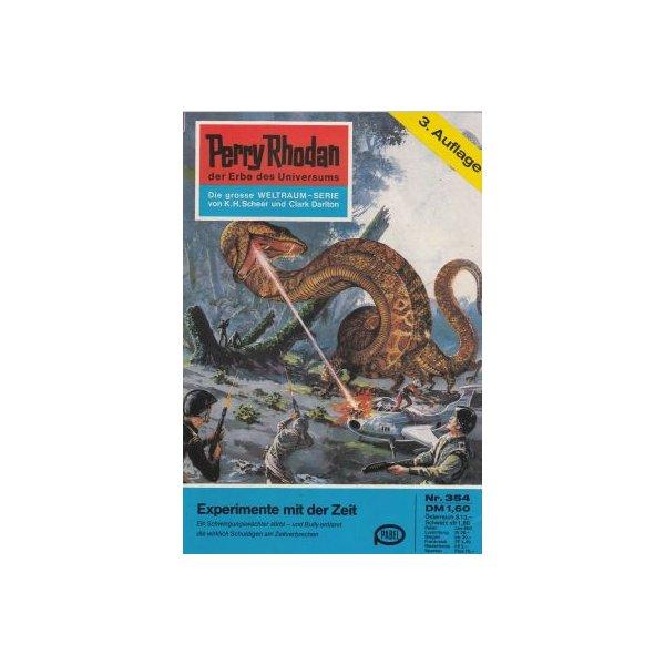 Moewig Perry Rhodan 3. Auflage Nr.: 354 - Darlton, Clark: Experimente mit der Zeit Z(1-2)