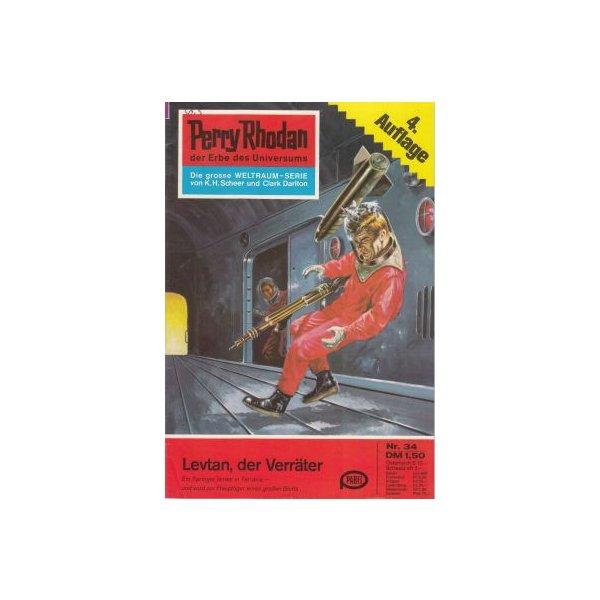Moewig Perry Rhodan 4. Auflage Nr.: 34 - Brand, Kurt: Levtan, der Verräter Z(1-2)