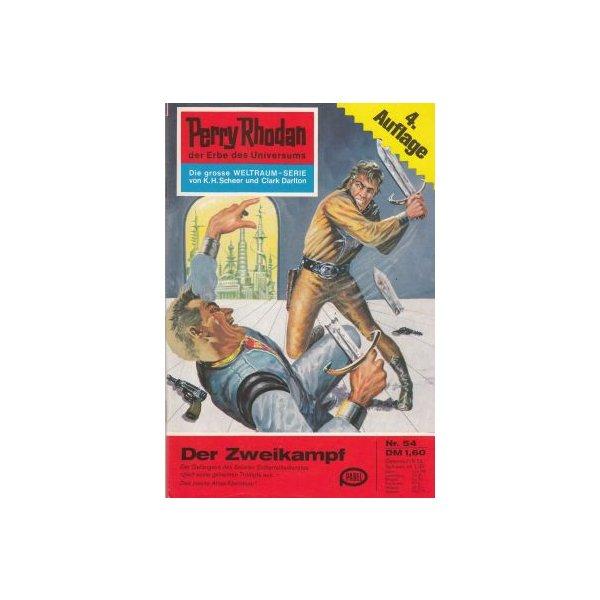 Moewig Perry Rhodan 4. Auflage Nr.: 54 - Scheer, K. H.: Der Zweikampf Z(1-2)