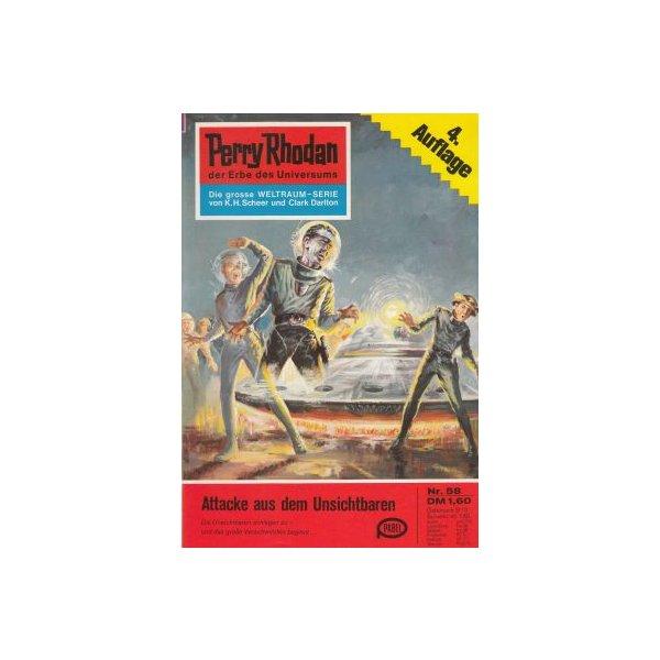 Moewig Perry Rhodan 4. Auflage Nr.: 58 - Darlton, Clark: Attacke aus dem Unsichtbaren Z(1-2)