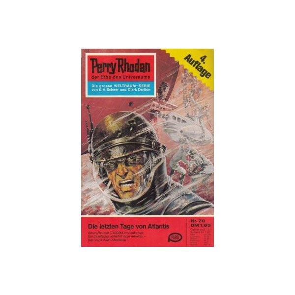 Moewig Perry Rhodan 4. Auflage Nr.: 70 - Scheer, K. H.: Die letzten Tage von Atlantis Z(1-2)