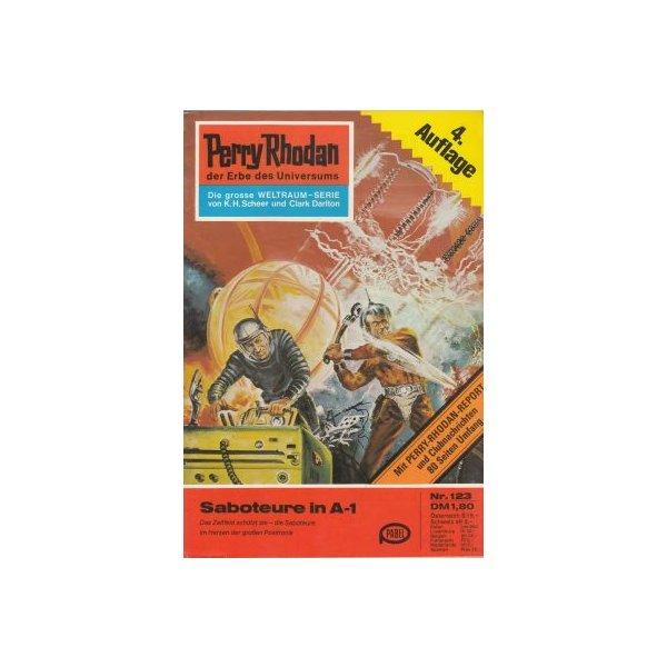 Moewig Perry Rhodan 4. Auflage Nr.: 123 - Brand, Kurt: Saboteure in A-1 Z(1-2)