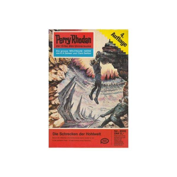 Moewig Perry Rhodan 4. Auflage Nr.: 206 - Mahr, Kurt: Die Schrecken der Hohlwelt Z(1-2)