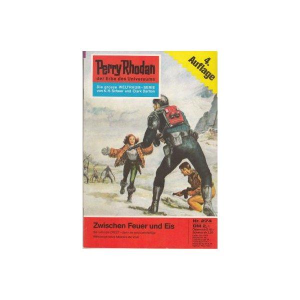 Moewig Perry Rhodan 4. Auflage Nr.: 274 - Voltz, William: Zwischen Feuer und Eis Z(1-2)