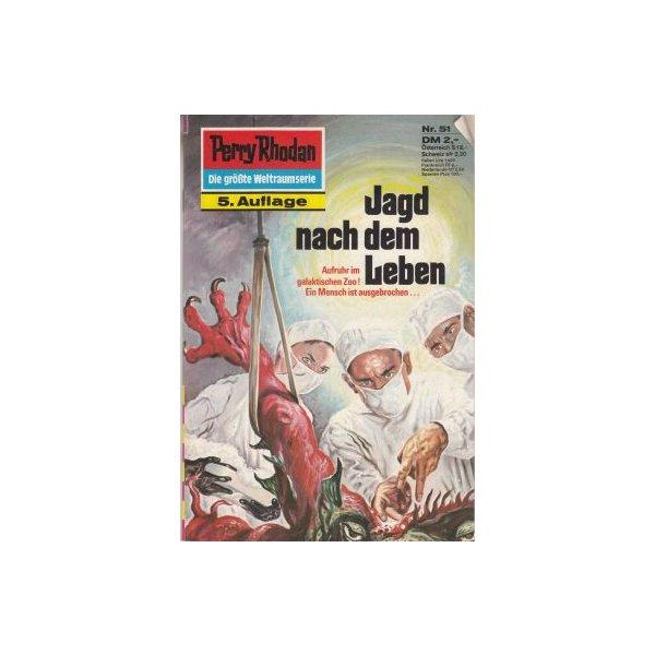 Moewig Perry Rhodan 5. Auflage Nr.: 51 - Brand, Kurt: Jagd nach dem Leben Z(1-2)